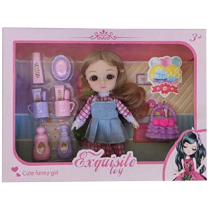 Doll Cute Little Girl 3D Real Eye Girl Exquisite Toy With Accessories