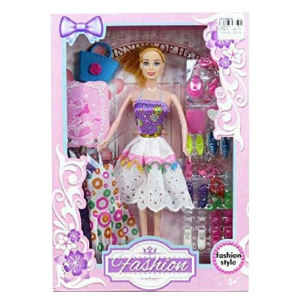 Fashion Pretty Doll Toy With Outfit & Accessories Play Set For Girls