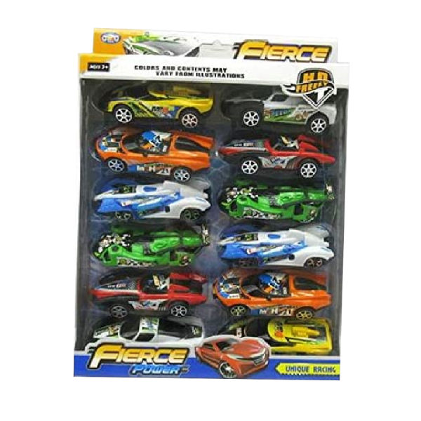 Kids Cars Pack Of 12 Power Unique Racing Cars Kids Toy Gift