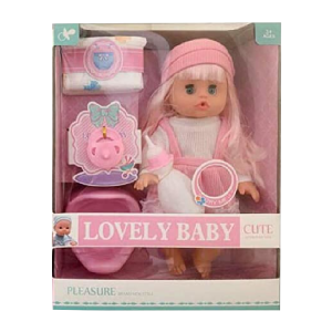 Pretend Play Lovely Baby Doll For Girls Doll With Feeding Bottle Potty Training Chair Toy Gift