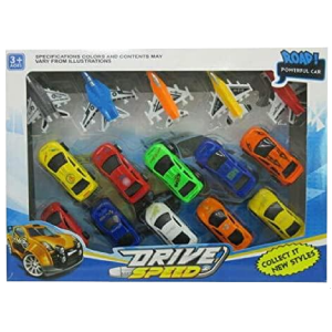 Pull Back Mini Toy Cars & Fighter Jet For Kids Racing Car Toy