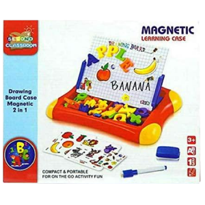 2 in 1 Magnetic Drawing Board Portable Learning Case Educational Toy