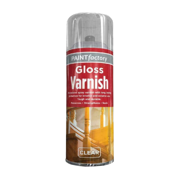 Clear Gloss Varnish All Purpose Spray Paint For Exterior Interior 250ml