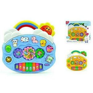 SDMAX Toddlers Musical Rainbow Piano Toys For 2 Years Old Kids With animal sound, music and light toy