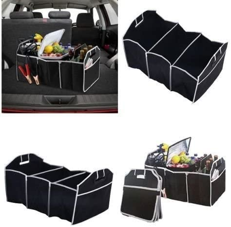 2 IN 1 HEAVY DUTY COLLAPSIBLE CAR BOOT ORGANISER WITH THERMO COOLER SHOPPING TIDY STORAGE