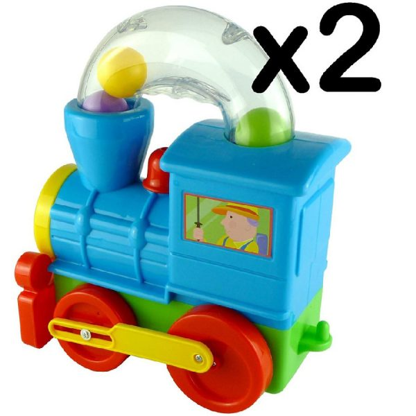 New Push Along Ball Blowing Loco Train Toddler & Baby Toy Great Gift