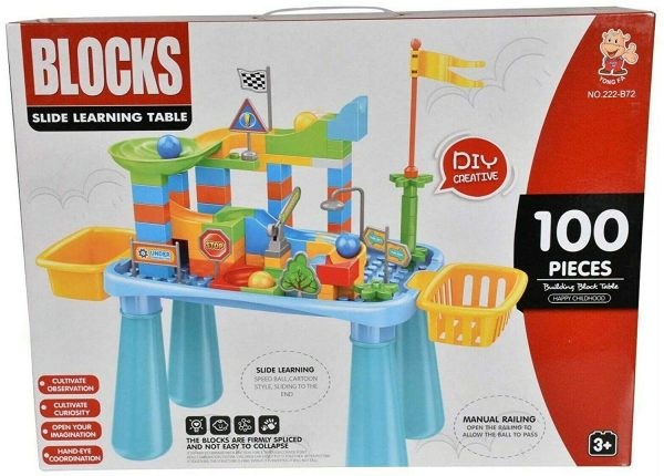 100pcs Building Blocks Slide Learning Table Creative Fun Educational Toy For Kid