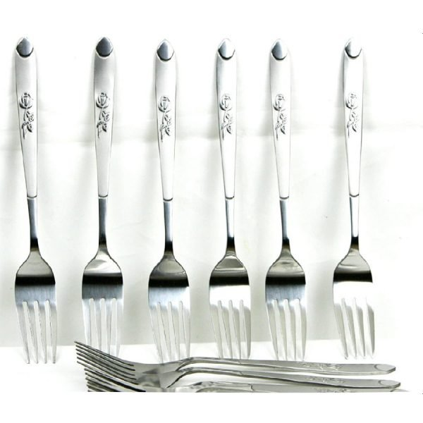 New Pack of 6 Stainless Steel Forks Cutlery Spare Dinner Table Forks