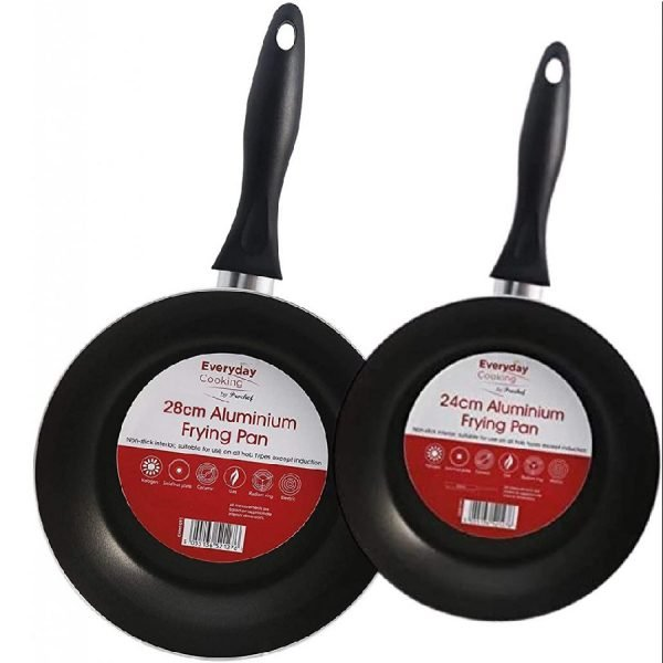 EVERYDAY 20/25 cm Frying Pan Set, Pack of 2, Graphite