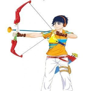 Kids Archery Toxophly Series Bow & Arrow Set With Target Outdoor Garden Toy Game