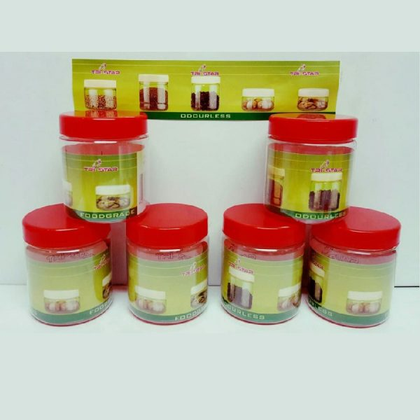 6x 100ml Small Container Plastic Storage Pots Jars Food Safe Odourless Leakproof