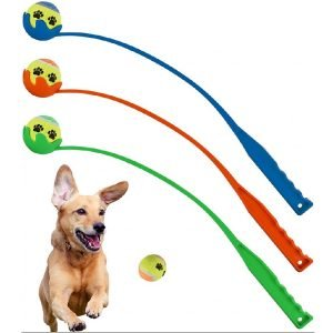 DPNY Pet Dog Tennis Ball Launcher Chucker Thrower Training Exercise Outdoor Fetch Toy