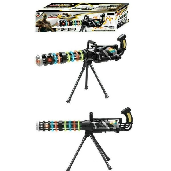 Battery Operated Light & Sound Effect Gatling Machine Toy Gun Stand Toy For Kids