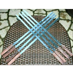 SDMAX BBQ Barbecue Grilling Kabob Kebab Wide Flat Skewers Needle set 8pc 23inch long
