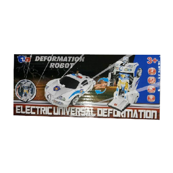 Kids Electric Robot Car Toy Deformation Transformer With Light And Sound For Boys Girls