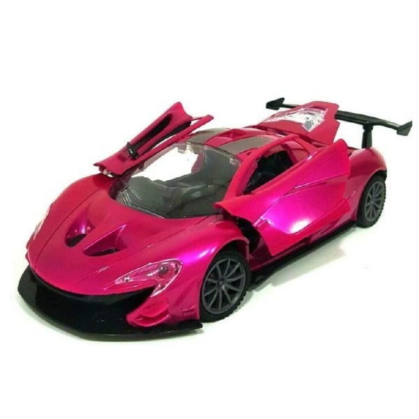 Kids Girls Pink Purple Remote Control Sports Car Door Open With Remote Toy
