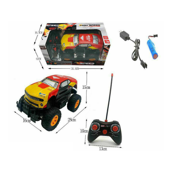 Big Wheel High Speed Remote Control Monster Toy Truck With Light For Kids