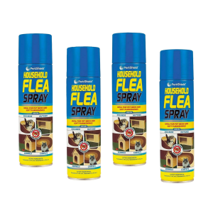 Pack Of 4 Household Flea Spray For Pet Beds & Soft Furnishing
