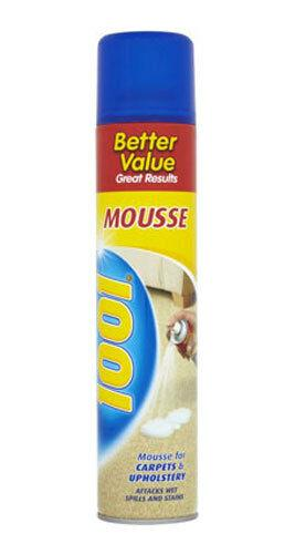 2 X Mousse For Carpets & Upholstery Attacks Wet Spills And Stains