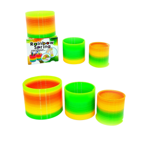 Pack Of 3 Different Sizes Rainbow Magic Neon Spring Slinky Stretchy Coil Toy