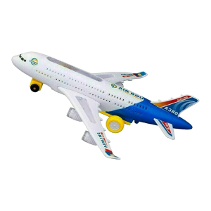 KIDS TOY WITH LIGHT & MUSIC KIDS AIRPLANE AIRBUS BUMP AND GO TOYS