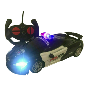 POLICE FERRARI RC REMOTE CONTROL CAR POLICE FLASHING LIGHTS BOXED RECHARGEABLE