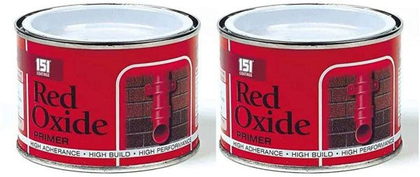 2 x Red Oxide Primer Paint Tin Exterior Interior Decoration Wall Gate Tiles Wood