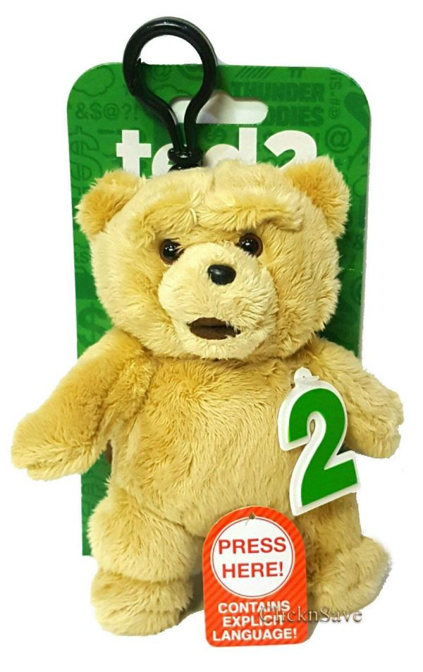 1x Adult fun toy Ted 2 Soft Clip With Sound funny Explicit Language soft toy