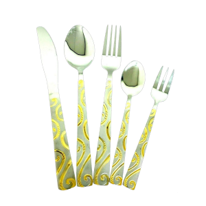 Stylish Stainless Steel Cutlery Sets Tableware Dining Kitchen Fork Spoons