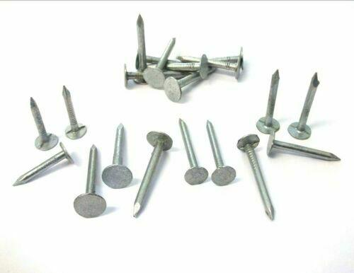 250g FELT NAILS 30mm Galvanised Roofing Shed Hutch Kennel Tack Clout Head Repair
