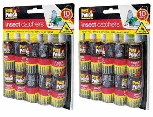 20 Pack Insect Catchers Killer Tape Strip Pest Bug Wasp Window Fly Poison Free