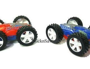 1x Flip Over Stunt Car Friction Powered 4 Wheel Drive 4 x 4 Kids Toy