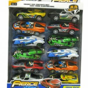 12 Pieces Fierce Power Unique Racing Cars Kids Toy Gift Pack