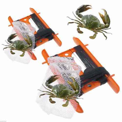 2 x Crabbing Line with CRAB NET On Reel Crab Bag Weight Fishing NO HOOKS SAFE