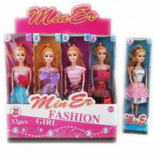 2 x Fashion Girl Play Doll Toy For Kids Age 3+