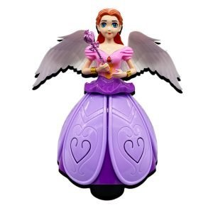 Dancing doll angel girl toy with multicolored lights & music