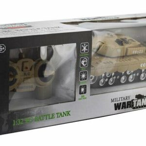 1:32 Remote Control Military War Tank Toy Battery Operated Light &Sound Kids Toy